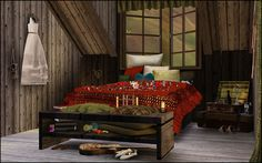 Nice, Creative room design by simmers over at The Sims Daily for the Sims 3
