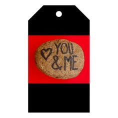 YOU&ME  on gift tags - Saint Valentine's Day gift idea couple love girlfriend boyfriend design