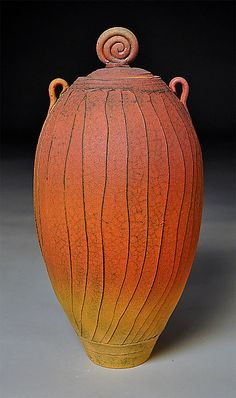 Tall Faceted jar: Nicholas Bernard: Ceramic Vessel - Artful Home