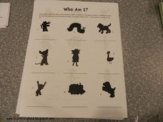 Who Am I? Book character silhouette contest for the library
