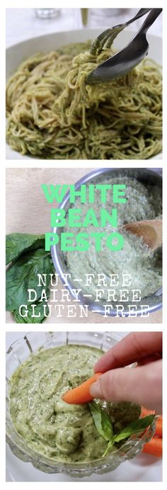 This delicious, creamy dairy-free, nut free pesto can be used as a sauce, dip or spread in either hot or cold dishes.