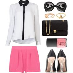 Pink shorts by endimanche on Polyvore