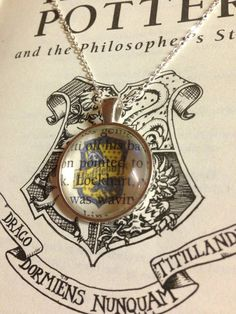 Harry Potter Book Page Necklace Hufflepuff by EnchantingGlass