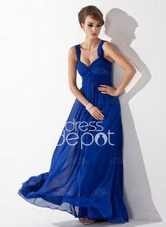 Love this blue evening #dress #retro #vintage #women #chiffon