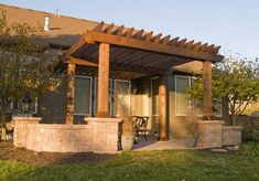 Simple Pergola Attached to House 5