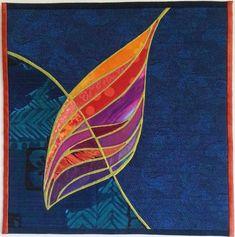 Leaf 1 by Jean Jurgenson | Fiber On the Wall.  2014 SAQA auction.