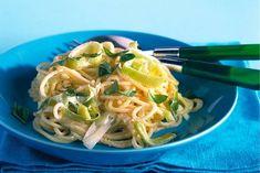 Spaghettini met prei-kaassaus - Recept - Allerhande