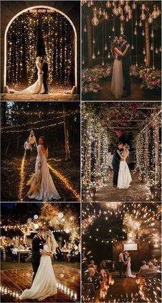 30 Romantic Night Wedding Photo Ideas All couples wish to have perfect pictures of their wedding, and so they wish to hire true professionals that have great night wedding photography ideas. Romantic Night Wedding, Night Wedding Photos, Wedding Photoshoot, Wedding Pics, Fall Wedding, Wedding Venues, Dream Wedding, Light Wedding, Wedding Hair