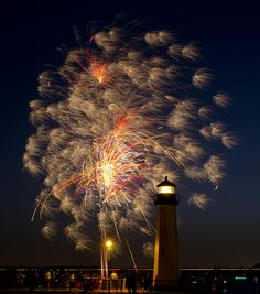 Lighthouse Fireworks by Wilkinswerks  on 500px