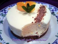 Tarta Mousse de Queso con Mandarina (Thermomix) Mousse, Food N, Queso, Muffins, Cheesecake, Butter, Pudding, Cream, Desserts