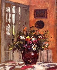 Still Life with Bouquet of Flowers / Ker Xavier Roussel - circa 1900