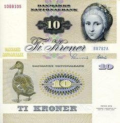 Denmark Kroner banknotes for sale.