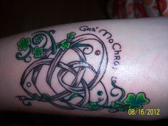 My Celtic Motherhood Knot tatoo!  LOVE it!