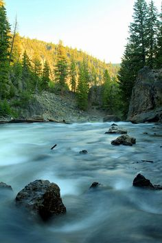 Long exposure near Firehole Canyon Falls (wide) by Jeffrey B., via Flickr