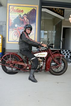 Darryl White on an 1928 Indian 101 at the Indian Motorcycle Museum Of Australia opens on March 15 at 419 Newman Rd, Geebung. Read all about it on MotorbikeWriter.com (http://motorbikewriter.com/indian-motorcycles-museum-opens/).  Photos by David Cohen - Ultragraphics.com.au