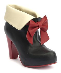 Lola Ramona Look at this #zulilyfind! Black & Red Fold-Over Angie Bow Pump #zulilyfinds
