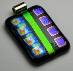 Fused glass pendant http://www.coastalartglass.com