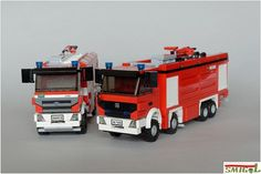 Mercedes Arctos is quite popular in LEGO, mainly because of the 42043 flagship Technic model of year 2015. Firefighters is quite often build theme by AFOLs. Smigol of Zbudujmy.to joins those two trends with his 2 minifig firefighting trucks.