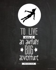 Peter Pan | Big Adventure Poster : Modern Typography Art Wall Decor Print 8 x 10…
