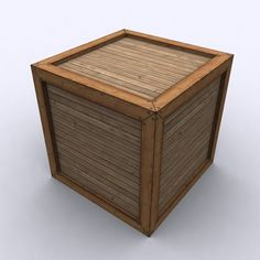 3D Wood Crate - 3D Model