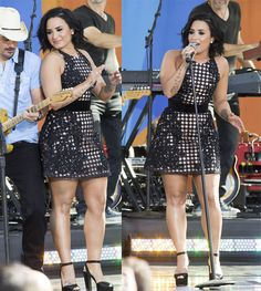 Demi Lovato on Good Morning America Summer Concert Series in New York on June 24, 2016