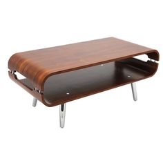 Vers Walnut Bent Wood Coffee Table