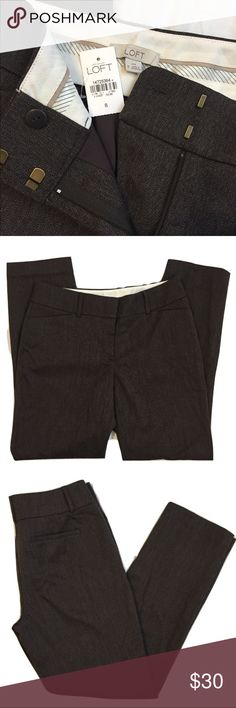 NWT  Ann Taylor LOFT Trousers Julie Fit   Size: 8 NWT  Ann Taylor LOFT Trousers Julie Fit   Size: 8 Total length is about 40 1/2 inches Inseam is about 30 inches.  Great work career pants Questions? Please ask prior to purchasing. LOFT Pants Trousers