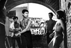Bruce Lee and Chuck Norris. RETURN OF THE DRAGON.