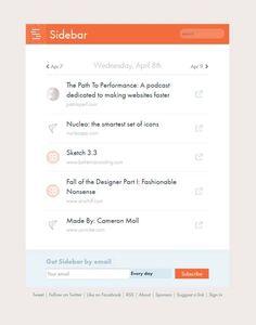 Sidebar – The 5 best design links, every day / 5 najlepszych stron poświęconych projektowaniu, każdego dnia http://www.start4app.pl/sidebar-design/