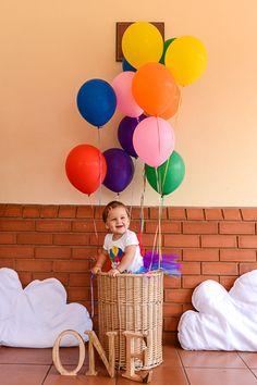 Hot air balloon photo booth