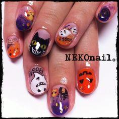 ☆★☆NEKOnail☆★☆:ハロウィンネイル♡ Halloween Nail Designs, Halloween Nail Art, Nail Art Designs, Nails Design, Nails Inspiration, Pedicure, Finger, My Favorite Things, Claws