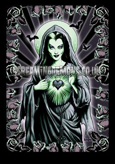 Would love this on a tee shirt!  'Our Lily of the Rosary' by ScreamingDemons