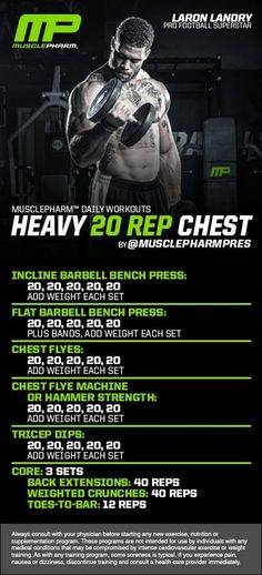 Musclepharm heavy 20 rep chest