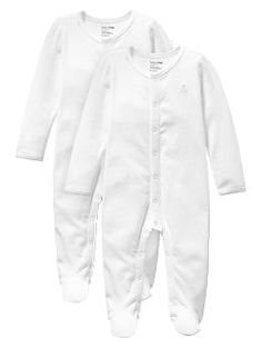 Favorite footed one-piece (2-pack) - Made for baby's first moments. In supersoft knits with delicate details, each piece is designed for baby's every day.