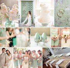 Mint + Peach wedding