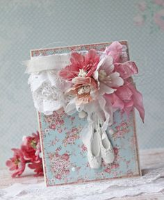 Adorable card for any ballerina or little girl