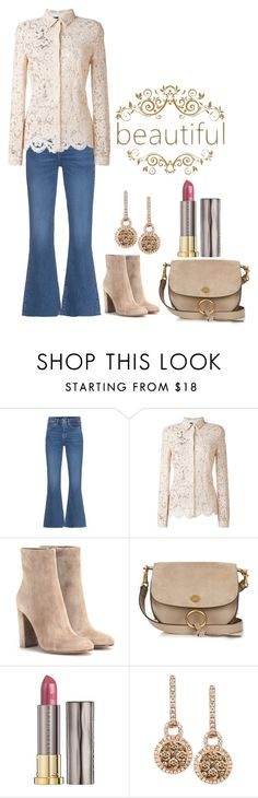 """An Outfit."" by cradee ❤ liked on Polyvore featuring M.i.h Jeans, Gianvito Rossi, Chloé, Urban Decay and LE VIAN"
