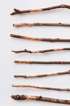 Poppytalk: DIY Copper + Gold Foil Branches