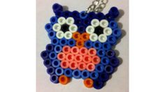 Perler Owl Chain Necklace by PixelWonders on Etsy, $4.25