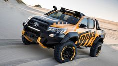 I am talking about the recently unveiled 2017 Toyota HiLux Tonka Concept. The model is based on the Toyota Hilux double cab model to capitalize on the Toyota Hilux, Toyota 4x4, Toyota Trucks, Toyota Cars, Toyota Tundra, Pick Up, Hilux 2017, Carros Toyota, Offroader