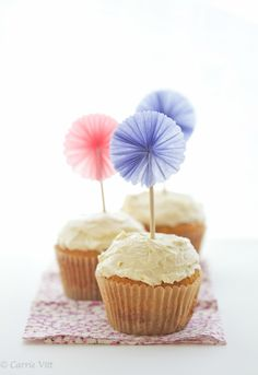 Grain-Free, Paleo Cupcakes with Buttercream Frosting (sub coconut butter & yogurt to make dairy-free)