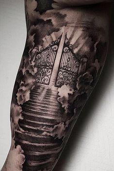 Tattoo uploaded by Max G. Forarm Tattoos, Forearm Sleeve Tattoos, Best Sleeve Tattoos, Cloud Tattoo Sleeve, Mens Tattoos, Chest Tattoo Clouds, Tribal Tattoos, Christian Sleeve Tattoo, Guy Tattoos