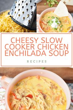 Find easy-to-make comfort food recipes like Healty recipes, dinner recipes and more recipes to make your fantastic food today. Creamy Chicken Enchiladas, Chicken Enchilada Soup, Soup Recipes, Dinner Recipes, Slow Cooker Chicken, Rotisserie Chicken, Quick Easy Meals, Healthy Drinks, Food To Make
