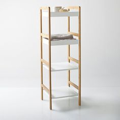 image Lindus Bamboo 3 or 4-Shelf Bathroom Unit La Redoute Interieurs