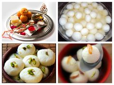 Happy Raksha Bandhan : Food Rasgulla - Rasgulla is a syrupy dessert popular in the Indian subcontinent and regions with South Asian diaspora. It is made from ball shaped dumplings of chhena (an Indian cottage cheese) and semolina dough, cooked in light syrup made of sugar. This is done until the syrup permeates the dumplings. The dish originated in East India; the present-day states of Odisha and West Bengal are variously claimed to be the birthplace of the dish.