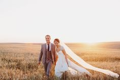 Real Wedding: Natural Outdoor Wedding