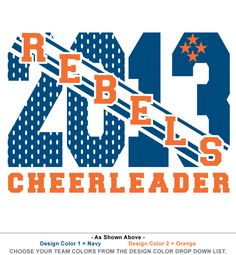 Custom T Shirt Design T450. Cheerleading ...