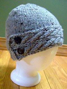 A new hat I made. :)   http://www.etsy.com/listing/96670006/beautiful-wool-blend-cable-knit-hat