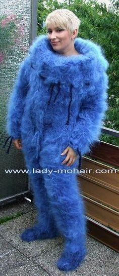 Gros Pull Mohair, Angora, Mohair Sweater, Ostrich Feathers, Catsuit, Overalls, Shorts, Hand Knitting, Fur Coat