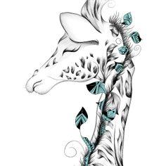 Girafa-árvore? Giraffe, Artsy, Sketches, Illustration, Animals, Shirts, Design, Art Drawings, Animales